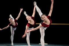 Dance basic training - group Stock Photo