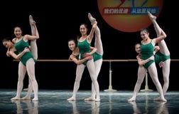Dance basic training - group Stock Image