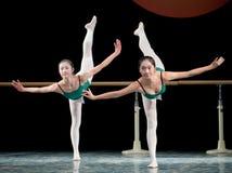 Dance basic training - group Stock Images