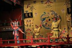 Dance-battle in the Beijing opera stock photography