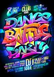 Dance battle party. Poster design concept Royalty Free Stock Photo