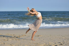 Dance on the beach Royalty Free Stock Images