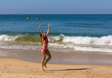 Dance at the beach of Goa Royalty Free Stock Images