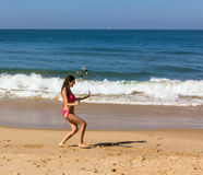Dance at the beach of Goa Royalty Free Stock Photo