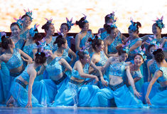 Dance: a beautiful jasmine Stock Photo