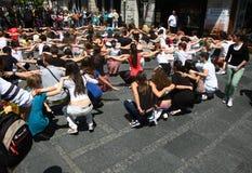 Dance in Belgrade Royalty Free Stock Images