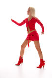Dance blonde girl Royalty Free Stock Image