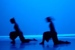 Dance in Blue. Modern dance in blue with motion blur Stock Images