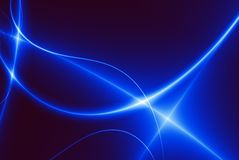 Dance of Blue Lights (02F7b). Dance of Blue Lights in the dark. Computer generated abstract background Stock Photos