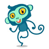 Dance blue monkey Stock Photo