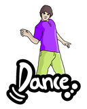 Dance  boy Royalty Free Stock Images