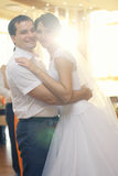 Dance of  bride and groom Royalty Free Stock Photos