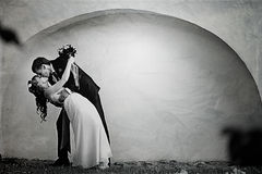 Dance bride and groom Stock Photography