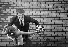 Dance of the bride and groom Royalty Free Stock Photo