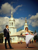 Dance of the bride and groom Stock Photography