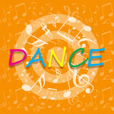 Dance bright design Royalty Free Stock Photo