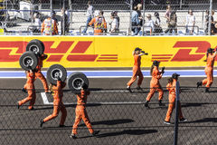 Dance celebrate the opening of the first Grand Prix of Russia . Sochi, Russia -12 November 2014 : Formula One, Russian Grand Prix,  Sochi autodrom , 16 stage Stock Photo