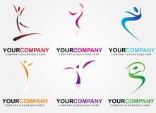 Dance center logo Royalty Free Stock Photography