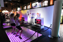 Dance Central 2 and Kinect Royalty Free Stock Photos