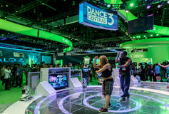 Dance Central 3 for Kinect at E3 2012. Professional dancers showing Dance Central 3 for the first time for Kinect and Xbox 360 during E3 2012, world video games Royalty Free Stock Photo