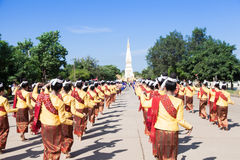Dance ceremonies to worship the relics. Stock Images