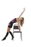 Dance on a chair Royalty Free Stock Photo