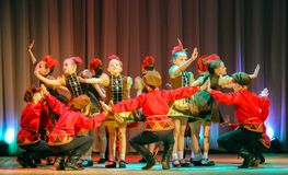 Dance of children Royalty Free Stock Photo