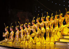 Dance by Chinese deaf actors stock photo