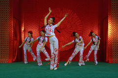 Dance. The Chinese New Year, Chinese dance, celebrating the New Year Stock Image