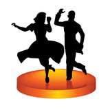 Dance on a circle Royalty Free Stock Images