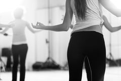 Dance class for women black and white Stock Images