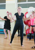 Dance class for women blur background Stock Images