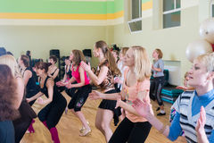 Dance class for women blur background Royalty Free Stock Photography
