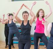 Dance class for women blur background Stock Image