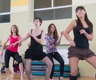 Dance class for women blur background Royalty Free Stock Image