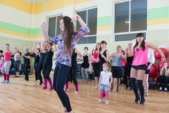 Dance class for women blur background Royalty Free Stock Photo