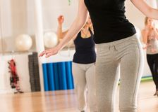 Dance class for women Stock Images
