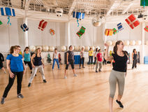 Dance class for women Royalty Free Stock Images