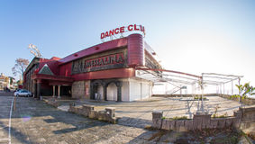 Dance club on the Black Sea coast in Pomorie, Bulgaria. Pomorie - ancient Bulgarian seaside town famous discoveries of ancient Slavic settlements. Located on the Royalty Free Stock Photo