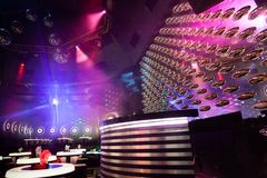 Dance club interior. Bulgaria. Dance club interior. Payner Dance Center Bulgaria Stock Photos