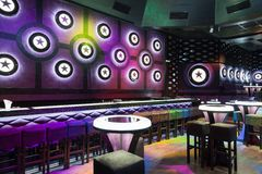 Dance club interior. Bulgaria Royalty Free Stock Images