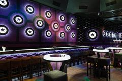 Dance club interior. Bulgaria Royalty Free Stock Photography