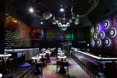 Dance club interior. Bulgaria Tarnovo Royalty Free Stock Photo