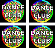 Dance club logo concept. The concept of the logo in four versions for music or dance club Royalty Free Stock Photo