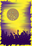 Dance club poster Stock Images