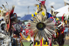 Dance competition at the Powwow. Stock Photos