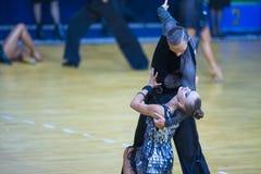 Dance Couple of Ivan Boykov and Dariya Prokopenko Stock Images