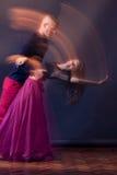 Dance couple motion blur long exposure Royalty Free Stock Image