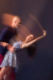 Dance couple motion blur long exposure Royalty Free Stock Photos