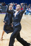 Dance Couple Performs Pro-Am Super Cup International Latin Program on WDSF Minsk Open Dance Festival-2017 Stock Photography